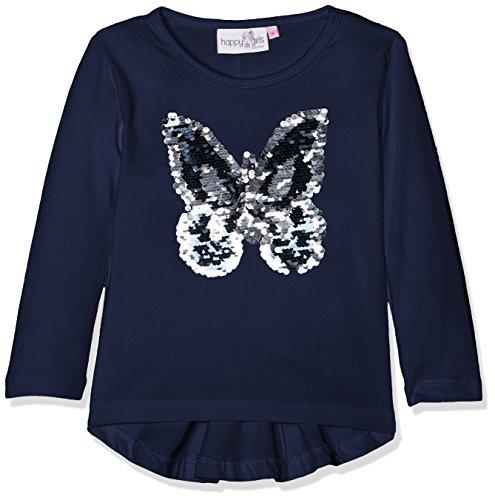Happy Girls Mädchen Langarm Shirt Wende Pailletten Schmetterling 773105 (Navy 62), 110