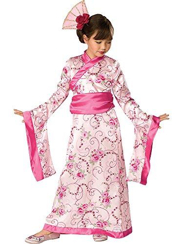 Asiatische Prinzessin Chinesisches Neujahr Karneval Kostüm Kinder Mädchen Rubies (Japanische Geisha Kostüme Zubehör)