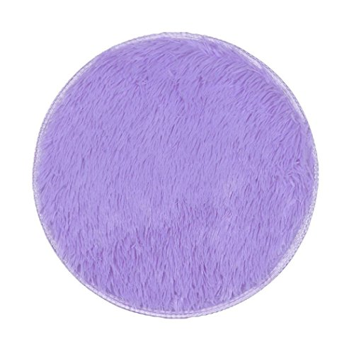 FAMILIZO Inicio Tienda Alfombras Espesas Alfombras Circulares Comedor Dormitorio Alfombra Alfombra Decoraciones (Púrpura)