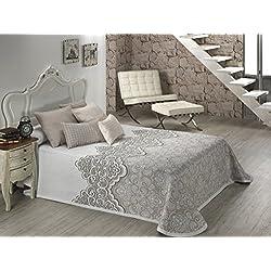 Textilia Duero - Colcha cubrecama, para Cama de 180 cm, 270 x 270 cm, Color Beige