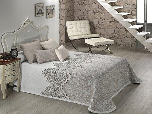 Textilia Duero-Couvre-Lit pour Lit-Beige 250 x 270 cm Beige