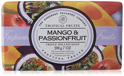 Tropical Fruits Mango & Passionfruit Single Wrapped Luxury Triple Milled Soap 200g - Papaya Seife Bars