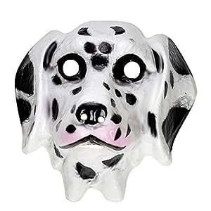 Masque de Dalmatien Pour Enfant Chien Masque D'Animal Plastique Masque de Chien Masque Pour Enfant Animal Masque de Carnaval Déguisement D'Animal Accessoire