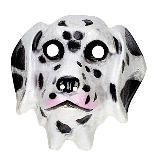 Kinder Dalmatiner Maske Hund Tiermaske Plastik Hundemaske Kindermaske Tier Faschingsmaske Tierkostüm Zubehör