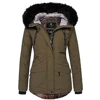 navahoo designer damen winter parka jacke warme winterjacke mantel b375 bekleidung. Black Bedroom Furniture Sets. Home Design Ideas