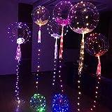 Setsail LED Leuchtende Luftballons, 20inch leuchtender geführter Ballon-Transparente Runde Blasen-Dekorations-Partei-Hochzeit Blinkendes Licht
