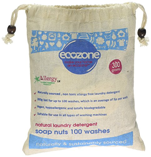 Ecozone Soap Indian Wash nuts replaces laundry powder detergents, 300g bag, 100 washes.