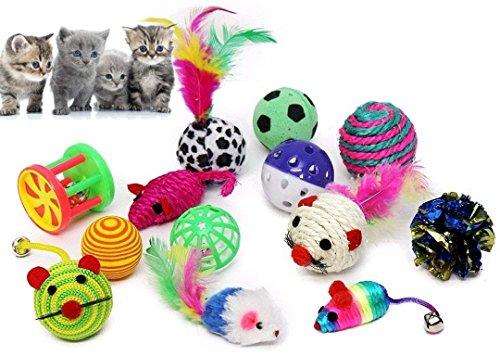 BLACK LION 20 Katzenspielzeug inklusive Katzenangel, Spielzeug für Katzen - 6