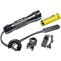 LMJ-CN® Torcia tattica WF-501B CREE XM-L T6 LED 1000 lm 3-4.2V 5 modo chiaro e tattico ferroviario pressostato montare box set