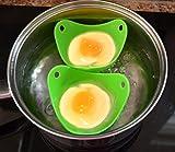 GAINWELL Utensili da cucina riutilizzabile in silicone per uova in camicia, set di 2,ideale per preparare le uova in camicia
