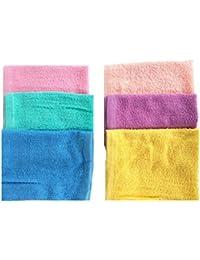 Indiacrafts Premium Cotton Women's Turkish Towel Handkerchief set of 6 Piece