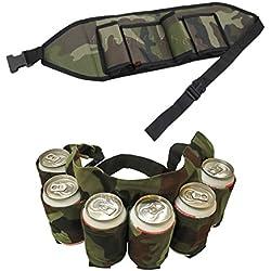 Pack de 6cerveza gurtel, cerveza Holster, de 6Pack gurtel Holster de cerveza cerveza Cinturón bebedores puede portador latas de cinturón etränkehalter Cinturón para fiestas Outdoor Camping Senderismo