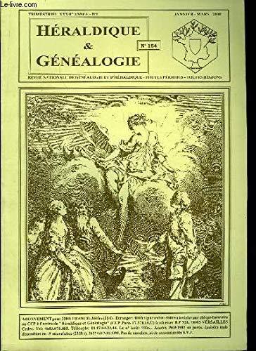 Héraldique & Généalogie, N°154 - XXXIIe année, n°1 : Familles AGOULT, de BOLOGNE - La branche aînée des BRAGANCE, CHASTELAIN DE CLORCY, Jonas des GUYOTS, Famille EXSHAW, LA GRANGE, MALAIN ... par COLLECTIF
