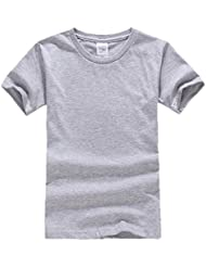 Smile YKK Enfant Unisexe Sweat-shirt T-shirt Tops Manches Courte Uni Col Rond de Sport