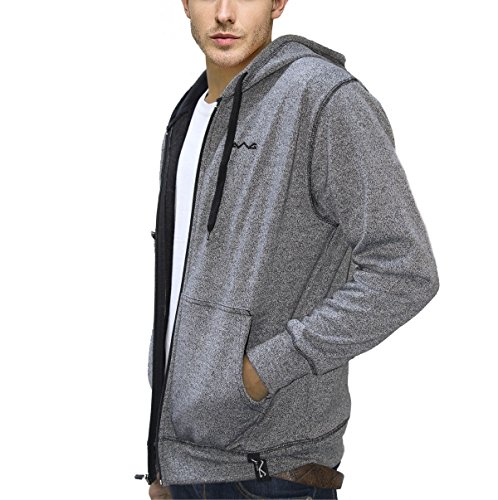 AWG - All Weather Gear Men's Cotton Blend Melange Grindle Sweatshirt with Zip, Medium(Black, AW17-AWG-GRDL-SS1m)