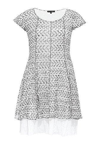 BLEE KLUM Damen One-Shoulder Kleid Weiß weiß 44 Grau