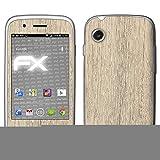 atFolix Skin kompatibel mit Wiko Ozzy, Designfolie Sticker (FX-Wood-Bleached-Oak), Holz-Struktur/Holz-Folie