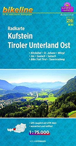 Kufstein - Tirol Unterland East Cycle Map 2014