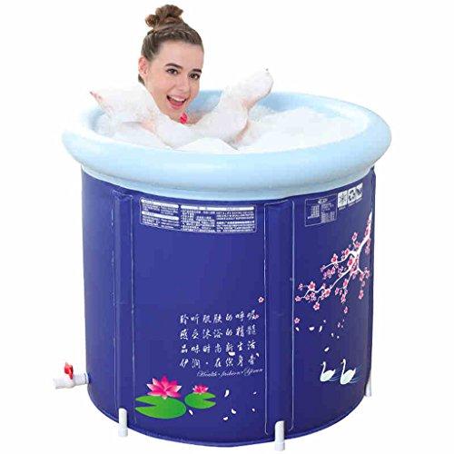 Bad Körper, Und Verkauf (Aufblasbare Badewanne Faltbar Badewanne Badewanne Erwachsene Bad Barrel Bad Barrel (blau), Large)