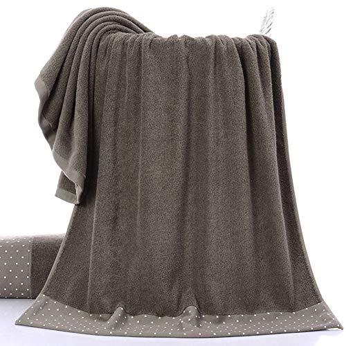 Toalla de baño de algodón grueso superabsorbente con lunares para el hogar, playa, secado rápido, grande, Brown Wave Dots, Tamaño libre