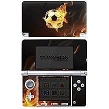 Nintendo 3 DS Case Skin Sticker aus Vinyl-Folie Aufkleber Fußball Sport Burning Soccer