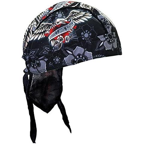 Hot Leathers Authentic Bikers Headwraps, DAGGER HEART HEAD WRAP,