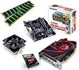 One PC Aufrüstkit | AMD FX-Series Bulldozer FX-4300, 4x 3.80GHz | montiertes Aufrüstset | Mainboard: Gigabyte GA-78LMT-USB3 | 16 GB RAM (2 x 8192 MB DDR3 Speicher 1600 MHz) | CPU Mainboard Bundle | Grafik: 2048 MB AMD Radeon R7 240, VGA, DVI, HDMI | komplett fertig montiert!