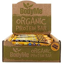 BodyMe Biologique Barre de Protéines Végétalien | Cru Cacao Orange | 12 x 60g | Avec 3 Protéines de Plantes