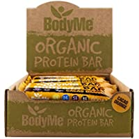 BodyMe Organic Vegan Protein Bar | Raw Cacao Orange | Box of 12 x 60g (2.12oz) | With 3 Plant Proteins