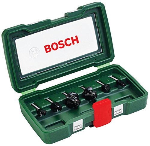 Bosch DIY 6tlg. Fräser-Set HM (Ø 6 mm)