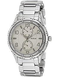 Guess Damen-Armbanduhr Analog Quarz Edelstahl W0442L1