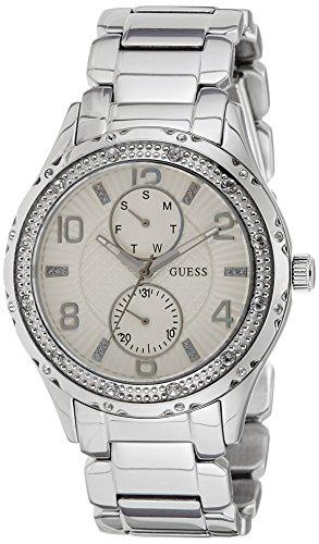 Guess W0442L1 - Reloj de cuarzo para mujer, correa de acero inoxidable color plateado