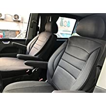 Fundas de asiento asiento del conductor Pasajero Asiento reposabrazos Diseño T49 gris