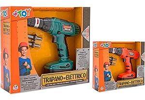 GLOBO- B/O Drill 2 Screw/Unscrew/3 Heads Try Me (37958), (1)