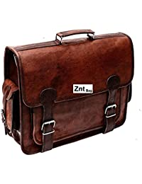 Znt Bags , 15 Inch Genuine Leather Laptop Office Messenger Bag For Men & Women NO - 1069