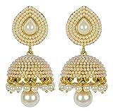 Shining Diva Stylish Fancy Party Wear Traditional Pearl Jhumki / Jhumka Earrings For Girls & Women