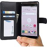 LG V20 Hülle, Abacus24-7 Schwarz Brieftasche Schutz