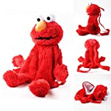 hhjxptst Plüsch Spielzeug, Sesamstraße, Plüsch Tasche, Rote Elmo Kerl, Plüsch Rucksack Für...