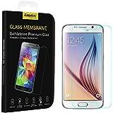 EasyAcc Panzerglasfolie Samsung Galaxy S6 9H Hardness aus gehärtetem Glas (bewusst kleiner als das Display, da dieses gewölbt ist)