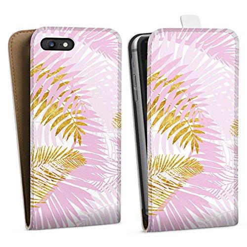 Apple iPhone X Silikon Hülle Case Schutzhülle Palme Palmenblätter Dschungel Downflip Tasche weiß