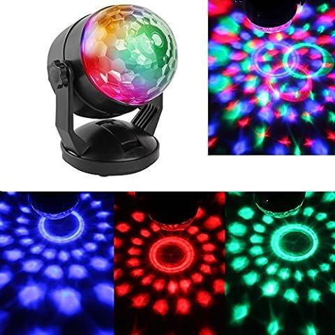 Disco Partybeleuchtung Lampe LED Mini Bunt 7 Farbe RGB Stimme Aktiviert Projektor Leuchtkugel Musikgesteuert Bühnenbeleuchtung Lichtprojektor Deko Leuchte Beleuchtung für Partydeko Karaoke Halloween Kindergeburtstag Geschenk Bar Club Party