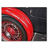 Glücksvilla Oldtimer 13 - Exklusives Künstlermotiv, XXL Bild/Wandbild, Größe: 120 x 90 cm Quer-Format, Digital-Druck auf Acrylglas 5 mm, Auto Fahrzeug Rad Reifen