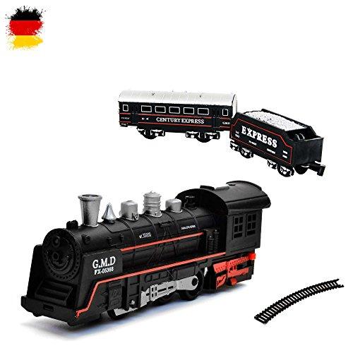 Eléctrico de ferrocarril Starter Set, Tren, locomotora de vapor, Simulación de sonido, modelo de locomotora