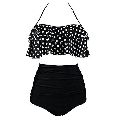 CRE87 Damen Sexy Polka Dot - Bikini-Set Mit Aufgeteilten Bikini-Tupfen -