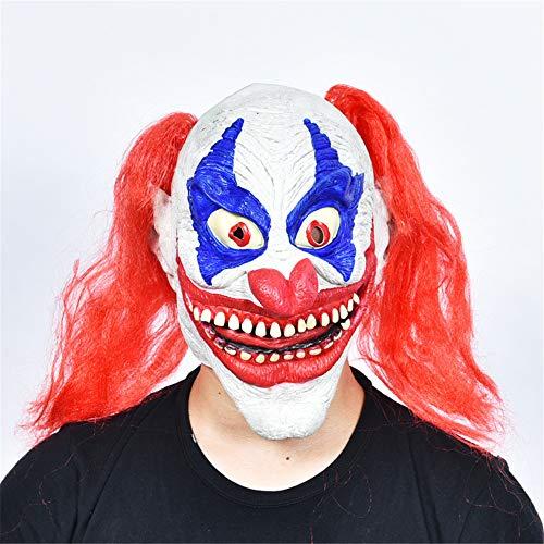 wsjwj Masken für Erwachsene Halloween Großhandel Requisiten Maskerade Latex Maske Horror Maske, Latex Großen Mund Clown Spielzeug