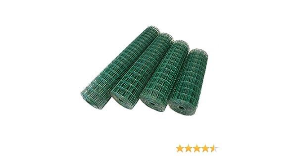 Top-Multi Maschendrahtzaun Wildzaun Gartenzaun PVC-beschichtet GR/ÜN 76mm x 63mm x 1,2m x 25,0m