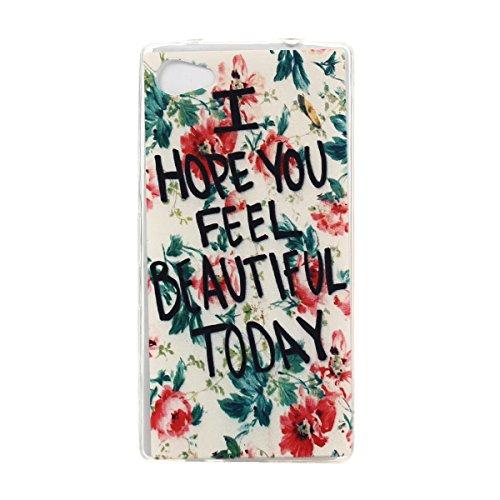 Voguecase® Per Apple iPhone 5 5G 5S, Custodia Silicone Morbido Flessibile TPU Custodia Case Cover Protettivo Skin Caso (Pinguino con palloncini) Con Stilo Penna BEAUTIFUL TODAY