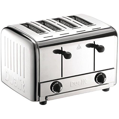 Dualit DK840Guss Caterer 4Slice Pop Up Toaster, Aluminium, 230mm H x 350mm W x 360mm D, Edelstahl Farbe (Dualit Toaster 4 Slice)