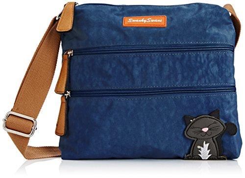 Swankyswans Damen Riley Cat Designer Umhängetaschen, Blau (Dunkelblau), One Size