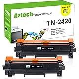 (MIT CHIP) Aztech 2 Pack Kompatibel für Toner Brother TN2420 TN 2420 TN-2420 für Brother MFC L2710DW L2710DN HL L2350DW L2310D L2375DW DCP L2530DW L2550DN Laserdrucker